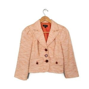 bebe Womens Orange Blazer Size 2
